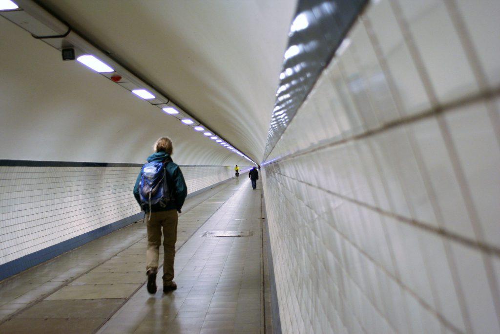 Sint Anna Tunnel für Fußgänger und Radfahrer