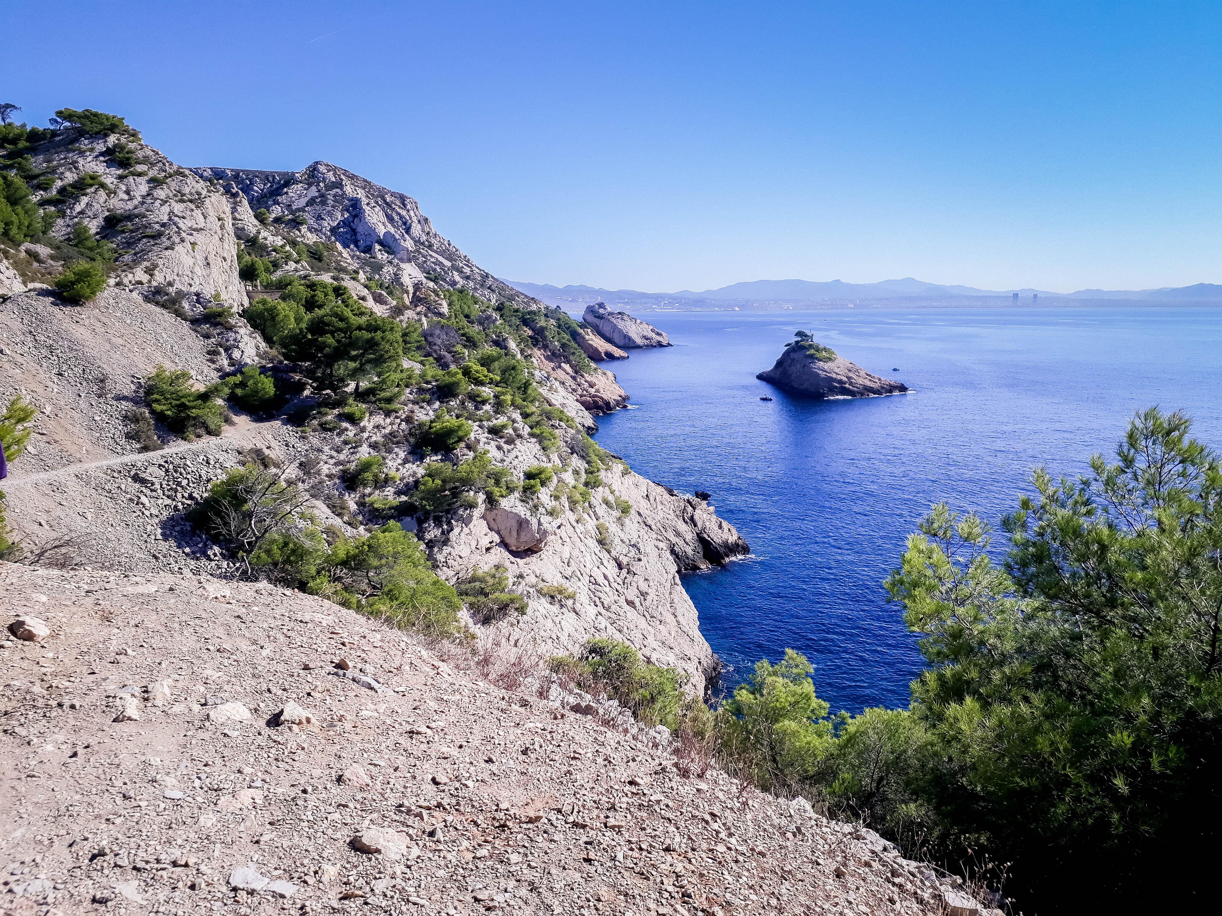Calanque Küste bei Marseille