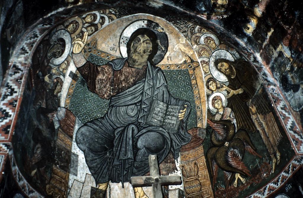 via verde reisen - Georgien - Wanderreise - Fresken in Swanetien